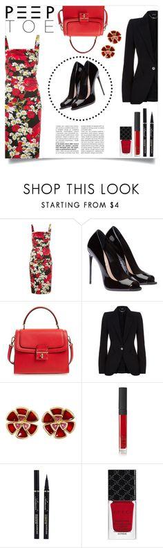 """Dolce & Gabbana Tube Dress"" by simona-risi on Polyvore featuring moda, Dolce&Gabbana, Alexander McQueen, Alison Lou, NARS Cosmetics e Gucci"
