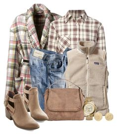 """""""Mixed Plaid"""" by terry-tlc ❤ liked on Polyvore featuring Isabel Marant, Anine Bing, Patagonia, BC Footwear, Michael Kors and Carolina Bucci"""