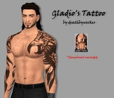 Simsworkshop: Gladio's Tattoo 1.0 by deathbywesker • Sims 4 Downloads