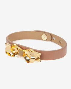 Leather loop bow bracelet - Mink | Gifts for Her | Ted Baker