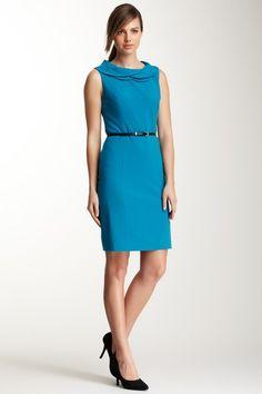 {Petal Collar Sleeveless Dress} Ellen Tracy - comes in black, too.