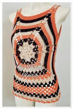 crochet tutorial video pattern video in easy way . Mode Crochet, Crochet Tunic, Crochet Jacket, Crochet Clothes, Knit Crochet, Tunisian Crochet, Pullover Upcycling, Crochet Woman, Beautiful Crochet
