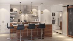 Imagine The Possibilities With These Home Improvement Ideas Cute Kitchen, Kitchen Redo, Living Room Kitchen, Rustic Kitchen, Kitchen Remodel, Kitchen Dining, Condo Decorating, Custom Kitchens, Home Remodeling