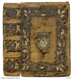 Esther Inglis (1571-1624), or Langlois, was the daughter of French Huguenots who fled to London around 1569, then relocated a few years later in Scotland. Around 1586, Inglis started making the small decorative books for which she is known. Miraculously, almost sixty of her manuscripts survive ~ Prince Maurice of Nassau's Coat of Arms embroidered on binding ~ Folger Library