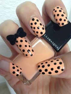 Black Polka Dot With The Most Adorable Bow!