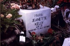 Mary Kelly's headstone (Jack the Ripper's 5th and final victim)