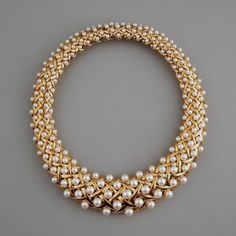 18k Gold and Pearl Necklace.