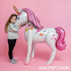 A unicorn party is as pretty as parties get! We have picked the best Unicorn Party Supplies from across the globe because we believe in Unicorns! Unicorn Themed Birthday Party, Birthday Balloons, Unicorn Party, Rainbow Birthday, 4th Birthday, Airwalker Balloons, Balloon Stands, Unicorn Balloon, Princess Theme Party