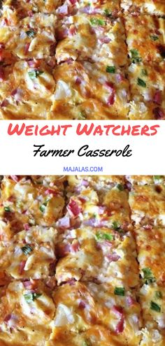 Farmer Casserole // #WeightWatcher #Healthy #SkinnyRecipes #Recipes #Smartpoints #Casserole #Farmer #LowCarb #WeigthWatchersRecipes #weightwatchersdesserts