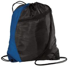 Port Authority - Colorblock Cinch Pack Backpack. BG80 - Royal / Black #WomenGymBags