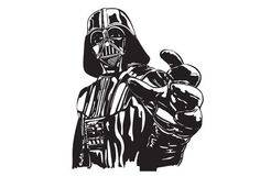 Darth Vader, hand outstretched.
