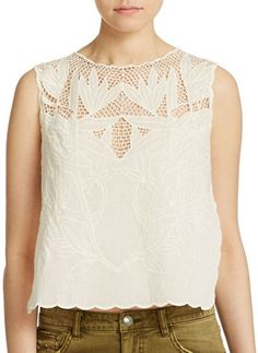 Free People Cotton Voile Crop Top