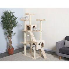 Armarkat Cat Tree, 81 x 69 x 201 cm Diy Cat Tree, Cat Tree Condo, Cat Condo, Cat Trees, Sisal Rope, Scratching Post, Diy Carpet, Cat Furniture, White Elephant Gifts
