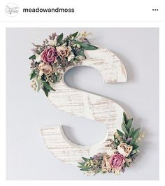 Meadow and Moss flower letters