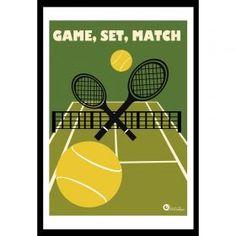 Game, Set, Match - A3 Art Print from ATA Designs