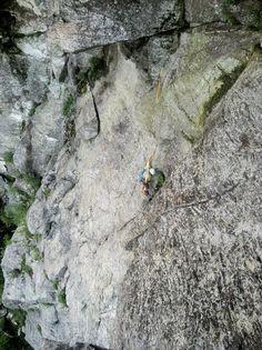 Rock Climbing in Smugglers' Notch