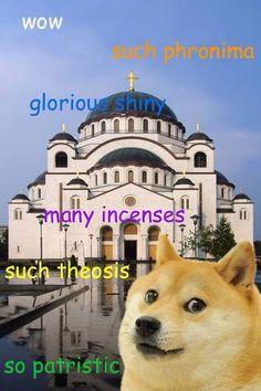 Bwahahaha!!  Doge goes Catholic!