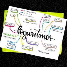 """Resumo de matemática sobre logaritmos. . . Quem é do bonde que pula a questão de logaritmo que cai na prova do Enem comenta """"Eu"""" 😂 . .… Mental Map, Math Formulas, Study Organization, Math Books, Lettering Tutorial, Study Inspiration, Studyblr, School Lessons, Study Notes"""