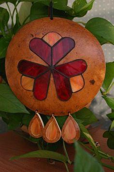 Gourd and Glass Sun Catcher Sculpture Window Sun by myladyofgourds, $72.00