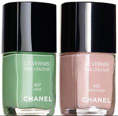 Chanel Le Vernis 407 Jade 493 Jade Rose