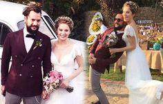 Hayat Şarkısı dizisinin güzel oyuncusu Burcu Biricik ile Emre Yetkin, bu akşam evlendi.