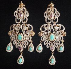 Contemporary feroza earrings