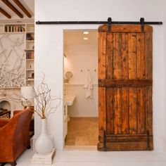 Love this idea for when we remodel the bathroom!! Maybe a distressed white finish.