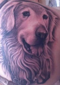 Kari... Is this what you keep telling me to get? golden retriever tattoo -