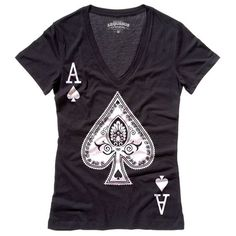 Be An Ace Tee Womens Black