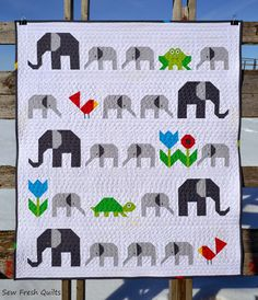 Elephant Parade from Sew Fresh Quilts. Pattern Available
