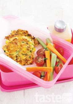 Pack a healthy school lunch with these flavoursome fritters!