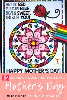 Our Mother's Day Mandala coloring page kit is quick and easy to use. All you have to do is print and go! Perfect for Distance Learning! Special People Quotes, Mothers Day Coloring Pages, Kindergarten Themes, Mandala Coloring Pages, Fox Design, Simple Gifts, Happy Mothers Day, Teaching Resources, Worksheets