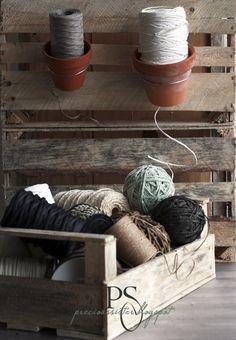 Terra cotta pots for garden twine