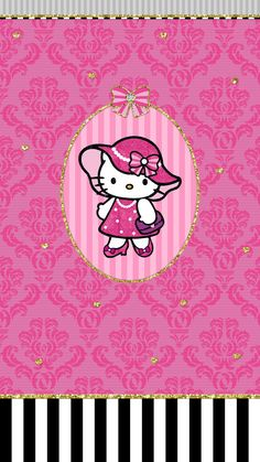 #hello_kitty #fashion #pink #black #hot #wallpaper #iphone