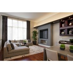 9 Helpful Tips: Living Room Remodel With Fireplace Layout living room remodel before and after columns.Small Living Room Remodel Toilets living room remodel ideas before after.Living Room Remodel With Fireplace Window. Room Interior, Interior Design Living Room, Interior Plants, Diy Room Decor, Living Room Decor, Home Decor, Room Decorations, Contemporary Family Rooms, Interior Decorating Tips