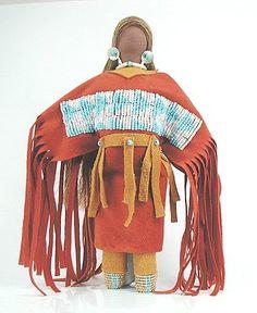 Native American Oglala Lakota No Face doll - Prairie Dawn Woman by Diane Tells His Name