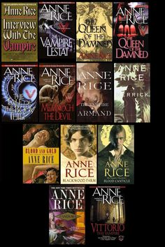 The Vampire Chronicles by Anne Rice the only vampire series worth reading imoYou can find Anne rice and more on our website.The Vampire Ch. I Love Books, Good Books, Books To Read, My Books, Vampire Books, Vampire Series, Anne Rice Books, Lestat And Louis, The Vampire Chronicles