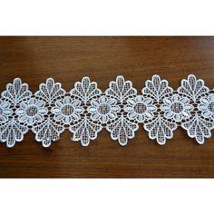 Off White Trim LaceHollow Flower Lace Trim for Bridal Veil