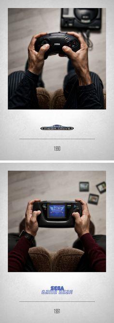 CONTROLLERS by Javier Laspiur, via Behance #Sega Mega Drive & Game Gear #VideoGame #RetroGame