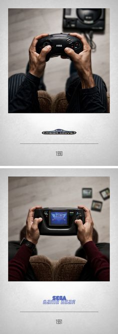 CONTROLLERS by Javier Laspiur, via Behance #Sega Mega Drive & Game Gear #VideoGame #RetroGame