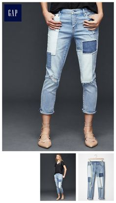 AUTHENTIC 1969 patchwork best girlfriend jeans