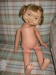 Go home Vintage American Character Whimsie Lena The Cleaner Basic Doll, you're drunk & naked!!!   :O