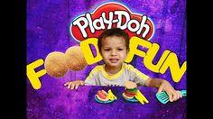 Play Doh Kitchen Creations Playdough Make Hamburgers Hotdogs and Fries w...