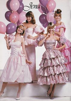 ALB Merch - Drooling over the prom dresses in seventeen waiting for the day I could go! Vintage Prom, Mode Vintage, Vintage Dresses, Vintage Outfits, Vintage Toys, Fashion Guys, 80s Fashion, Fashion History, Vintage Fashion
