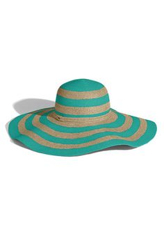 Juicy Couture Stripe Floppy Paper Straw Hat  11b2c15b86e4