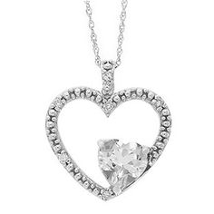 White Topaz Birthstone Diamond Heart Pendant Necklace In Silver Available Exclusively at Gemologica.com Valentine's Day 2015 Jewelry Gift Ideas for Him, Her and Kids. Gemologica has the perfect homemade and creative gifts for your boyfriend, girlfriend and for couples including rings, earrings, bracelets, necklaces and pendants. Shop now for special savings at www.gemologica.com/ Gift Guide Located at https://www.gemologica.com/jewelry-gift-guide-c-82.html
