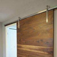 Solid walnut slab door