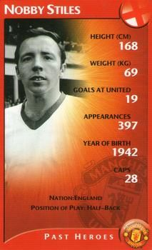 2003 Top Trumps Specials Manchester United #NNO17 Nobby Stiles Front Football Icon, Football Tops, Football Stickers, Football Players, Abby Wambach, Mia Hamm, Nobby, Trump Card
