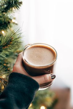 Power Peppermint Mocha! the unicorn of all holiday drinks. with 22 grams of collagen protein, which is good for joints and muscles, but also skin, nails, and hair. SO yummy! Sponsored by @bulletproofpins | pinchofyum.com