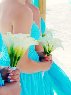 carribean blue beach wedding
